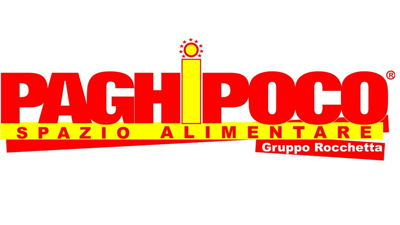 Logo Paghi poco spazio alimentare Gruppo Rocchetta GDO (Grande Distribuzione Organizzata)