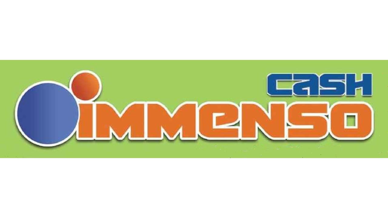Logo immenso cash GDO (Grande Distribuzione Organizzata)