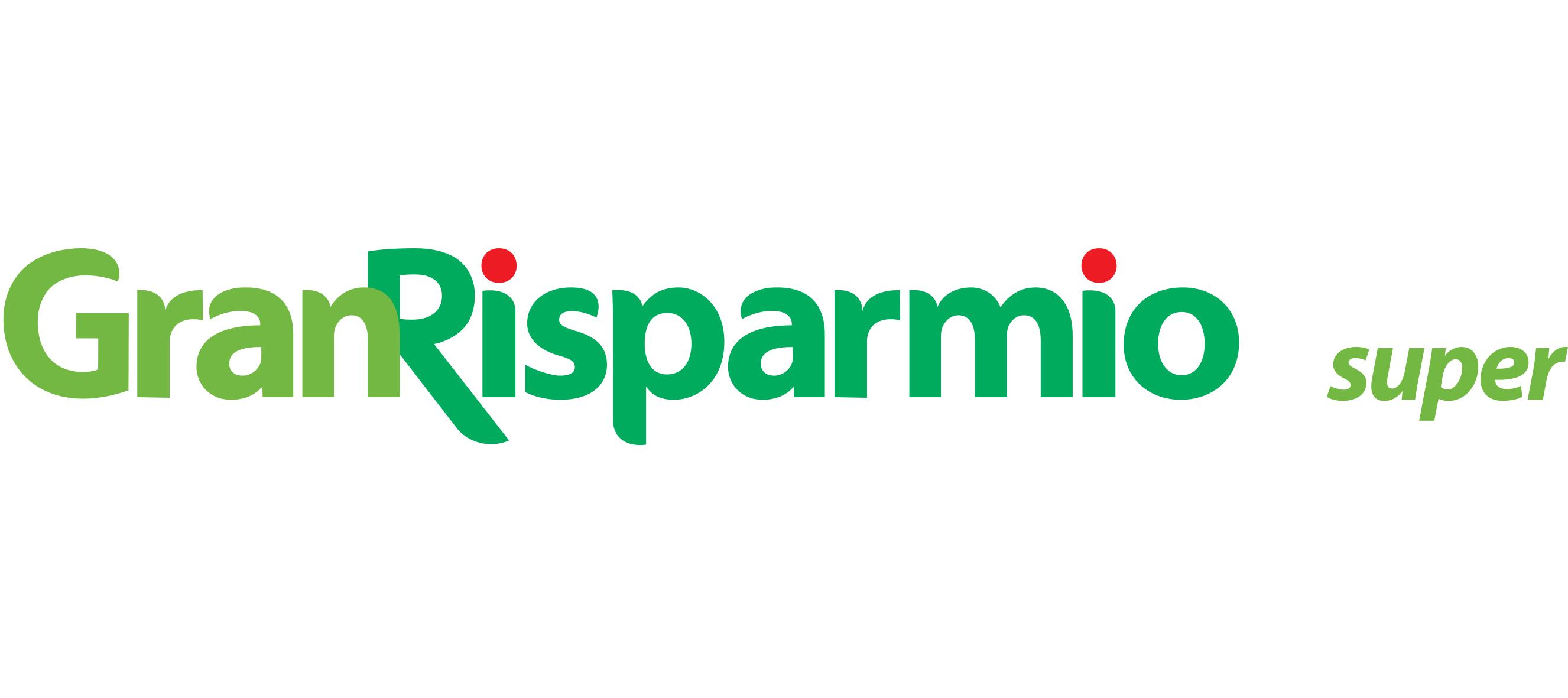 Logo Gran Risparmio super GDO (Grande Distribuzione Organizzata)