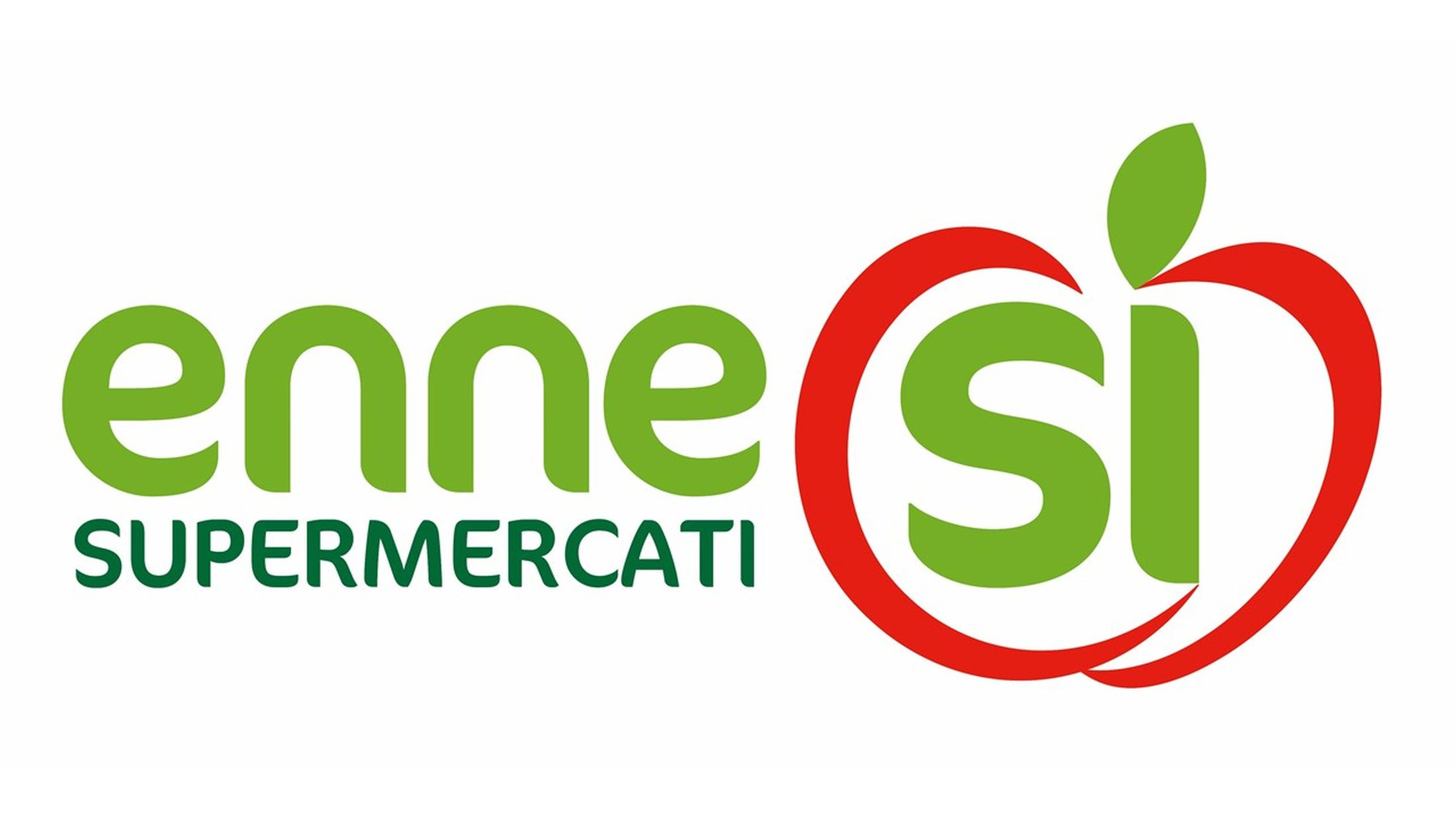 Logo enne supermercati sì GDO (Grande Distribuzione Organizzata)
