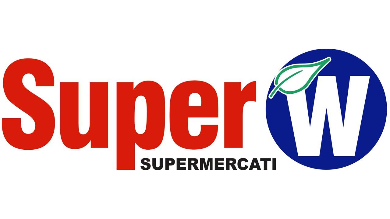 Logo Super W supermercati GDO (Grande Distribuzione Organizzata)