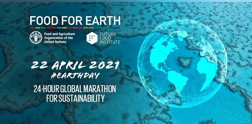 Banner Food for Earth maratona globale per la sostenibilità