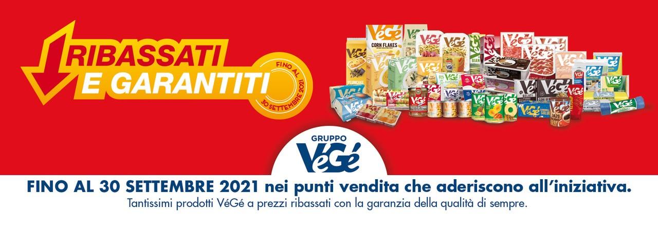 Promozione prodotti Vegé ribassati e garantiti