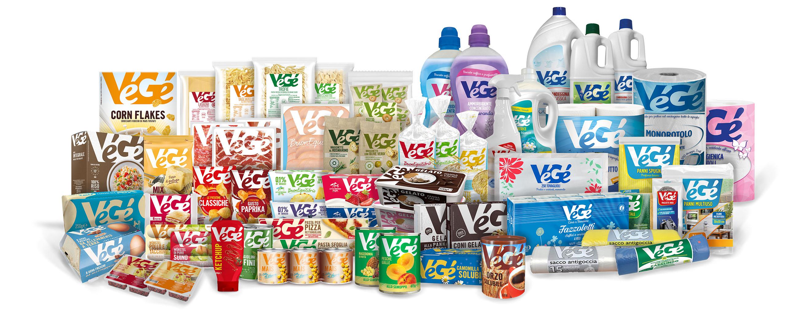 Prodotti Vegé GDO (Grande Distribuzione Organizzata)