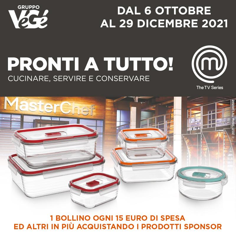 Banner Pronti a tutto! cucinare, servire e conservare. 1 bollino con 15 euro di spesa