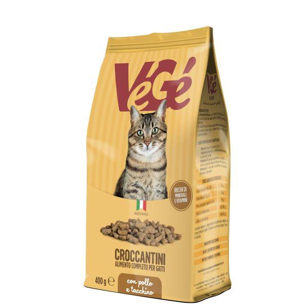 Crocchette con pollo e tacchino per gatti 400 g Vegé GDO (Grande Distribuzione Organizzata)