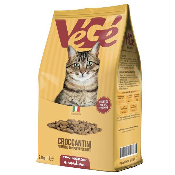 Crocchette con manzo e verdure per gatti 2 kg Vegé GDO (Grande Distribuzione Organizzata)