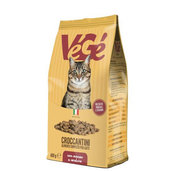 Crocchette con manzo e verdure per gatti 400 g Vegé GDO (Grande Distribuzione Organizzata)